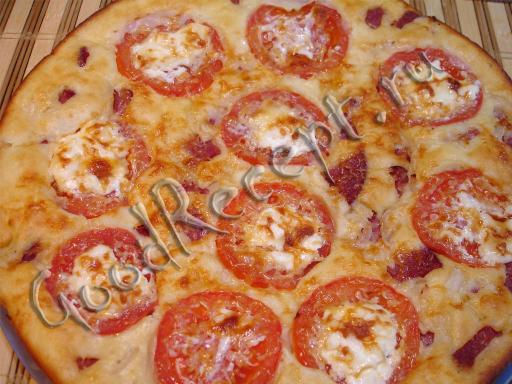 Пицца на жидком кефирном тесте